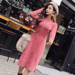 Melange Woolen Long Dress