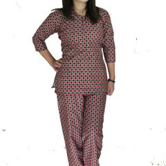 Floral Printed Pajama Set For Women