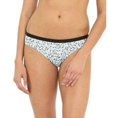 Jockey Printed Pack of 2 Bikini Panties For Women (1525) - Assorted