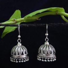 Silver Filigree Jhumki Medium