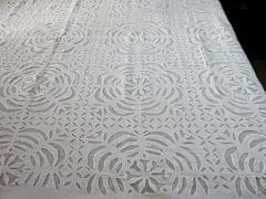 IndicHues White Applique Bedspread from Rajasthan