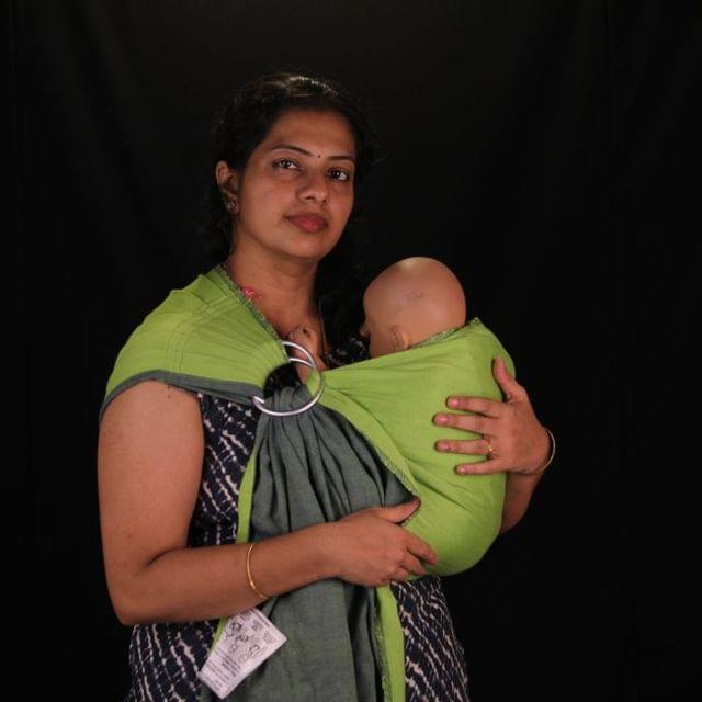 Cozy Bee Rentals - Anmol Aadi Wrap Coverted Pleated Ring Sling