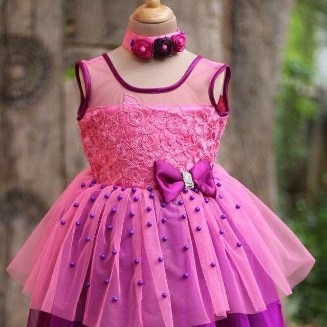 Little Bee Purple Tutu Party Gown