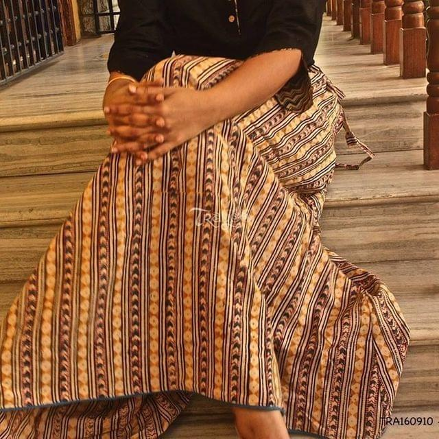 Kalamkari Printed Full Length Skirt