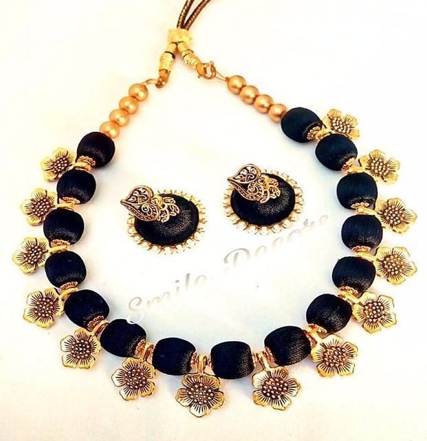 Smile Decors Flower Charms Silk Thread Jewellery