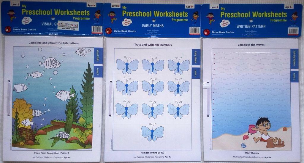 My Preschool Worksheets - Level 2 - Set 1