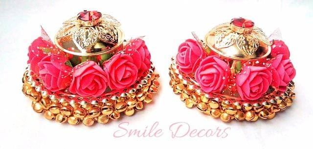 Smile Decors Ghungroo Plate With Kumkum Box