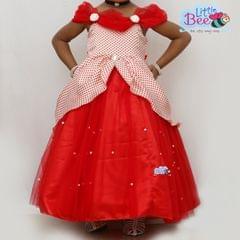 Little Bee Red Dot Full Length Dress