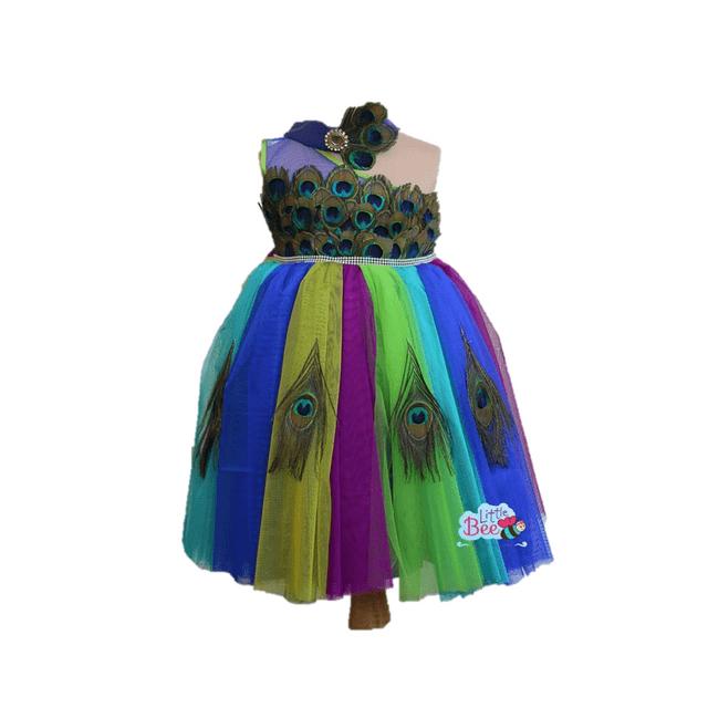 Little Bee Peacock Designer Frock