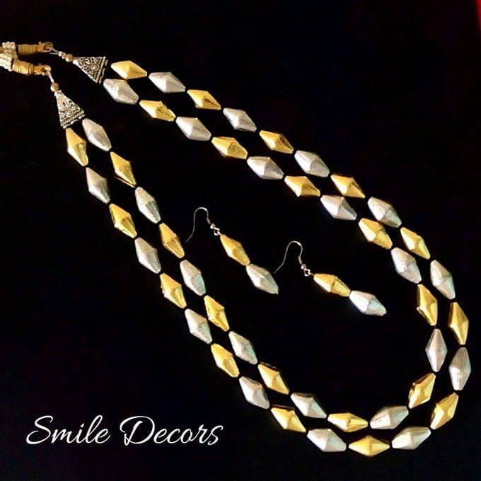 Smile Decors Dual Tone Dolki Bead Jewellery