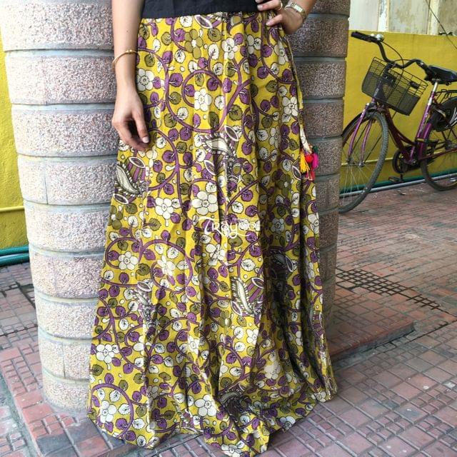 Trayee Kalamkari Cotton Printed Skirt