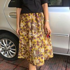 Trayee Printed Kalamkari Cotton Skirt