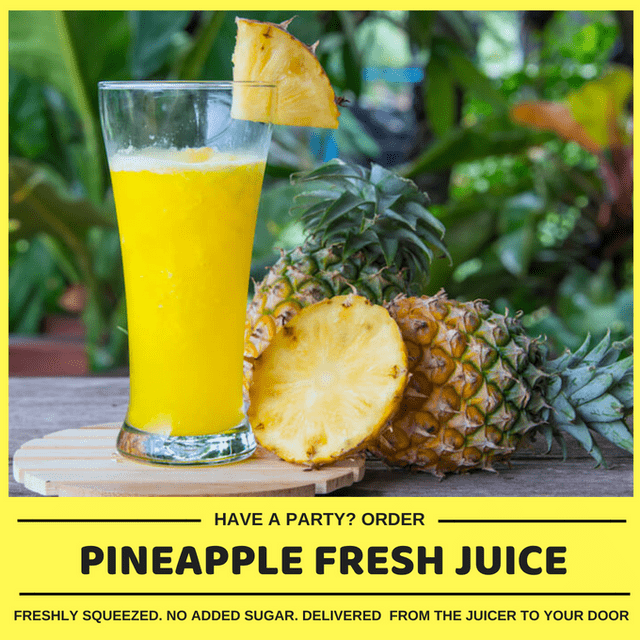Kid-friendly Freshly Squeezed Pineapple Juice (Min order 30 units)