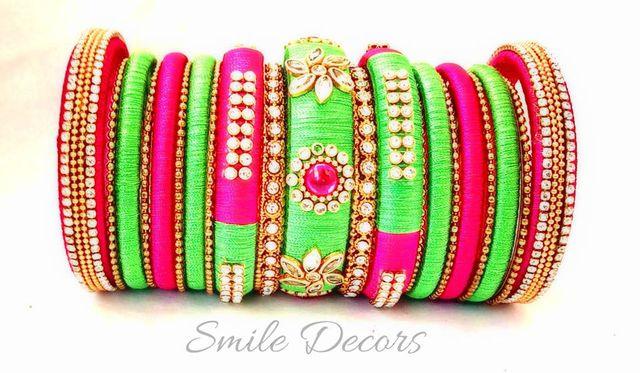 Smile Decors Silk Thread Bridal Bangles