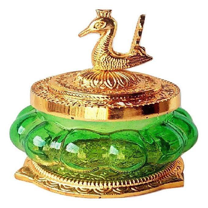 Smile Decors Lakshmi Kuber Pot with Peacock Lid