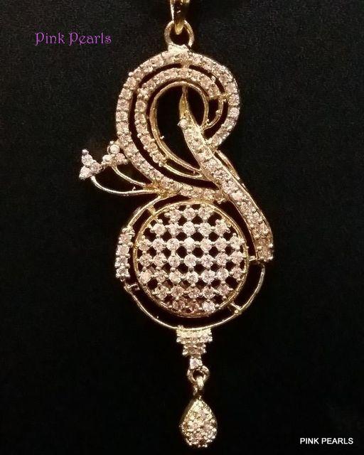Pink Pearls Unique Zircon Pendant