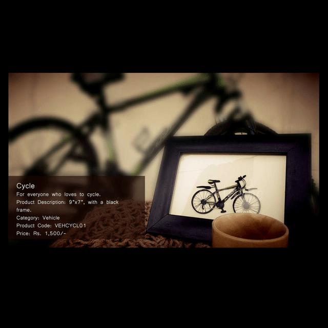 Kadaiveedhi Quilled Cycle