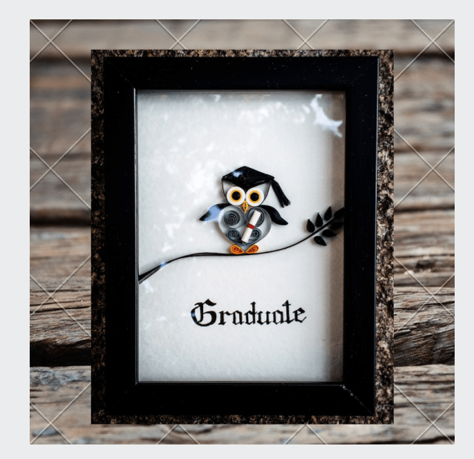 Kadaiveedhi Quilled Wise Owl