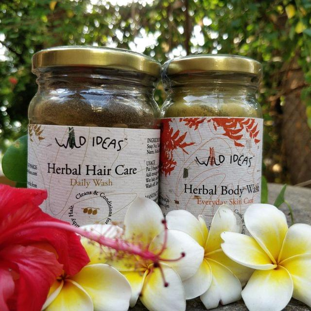 Wild Ideas Herbal Body Wash and Herbal Hair Care - Daily Wash Combo