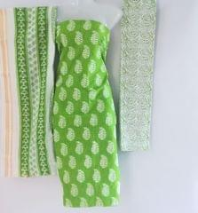 Aarika Light Green Cotton Chudithar Material