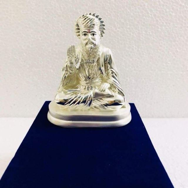 Smile Decors Silver Plated Gurunanak Idol