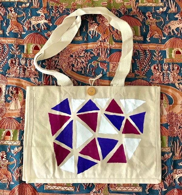 Hastkrit Abstract Design Cloth Shopping bag