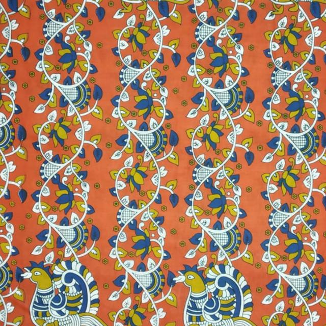 Aarika Orange Cotton Running Material