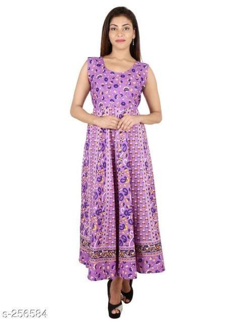 Aarika Violet Jaipuri Cotton Kurti