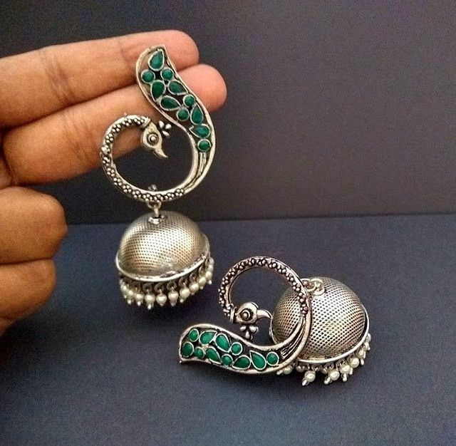 Smile Decors Heay Peacock Jhumkas