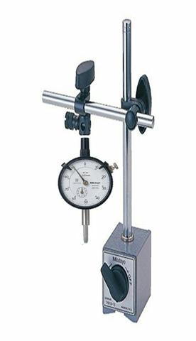 MAGNETIC STAND MITUTOYO 7010S-10 WITH MITUTOYO DIAL GAUGE 2046-S 7010S-10+2046-S