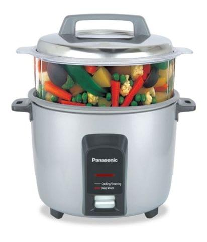 Panasonic SR Y18FHS 660 Watt Automatic Electric Cooker 1.8 Kg with Non Stick Cooking Pan & Steamer PHM6