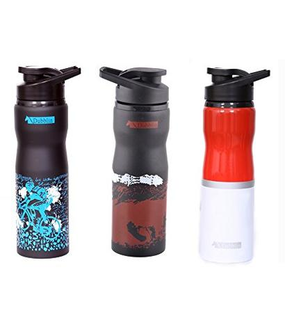 DUBBLIN SET OF THREE BOTTLES STAINLESS STEEL 750 ML ADVENTURE BLUE  Blue Brown Red splash