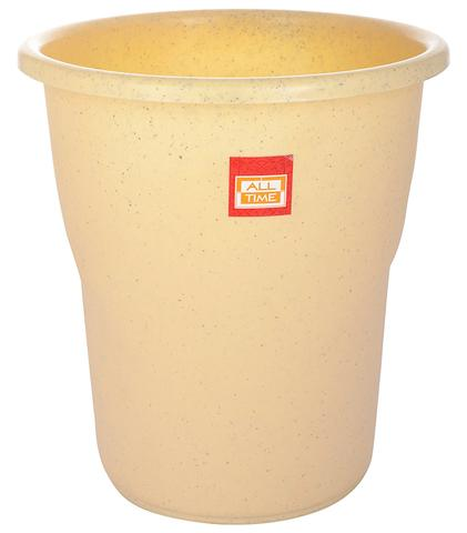 All Time Frosty Plastic Dust Bin, 5.5 Litres, Granite Biscuit 5.5LTR-GRANITEBISCUIT