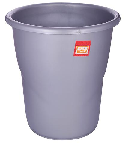 All Time Frosty Plastic Dust Bin, 5.5 Litres, Silver