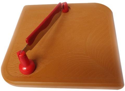 Blaze Steel & Plastic Chopping Board, 1-Piece, Brown GH304