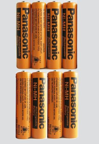 Panasonic NiMH AAA Rechargeable Battery for Cordless Phones 8 Pcs Pack