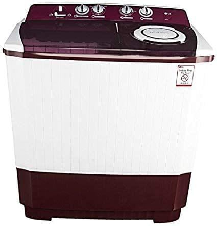 LG 10.0 kg Semi-Automatic Top Loading Washing Machine (P2065R3SA, Burgundy)