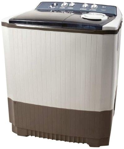 LG 14.0 kg Semi-Automatic Top Loading Washing Machine (P1860RWN5, Light Gray)