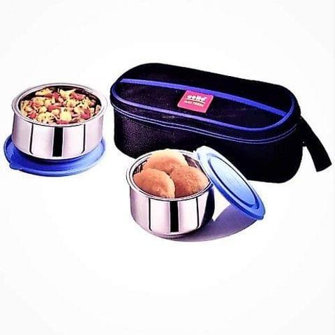 CELLO Maxfresh Thermi Lunch Box pack, Small(Blue) A103(Blue)