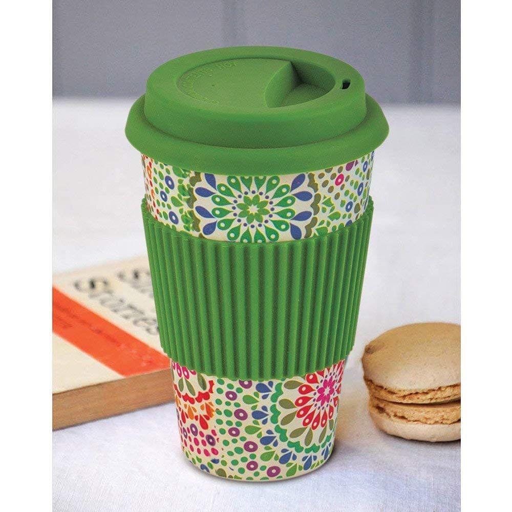 Freelance Bamboo Fibre Travel Mug, 400ml, Green FTC-JH057GREEN