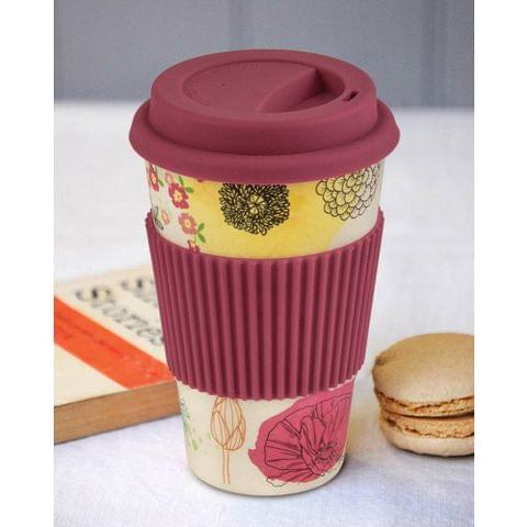 Freelance Bamboo Fibre Travel Mug, 400ml, Red FTC-JH061RED