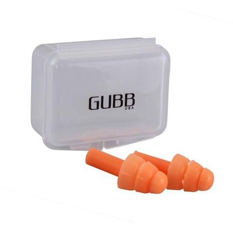 Gubb Noise Reduction Silicone Ear Plugs For Sleeping - Orange GUBB-115