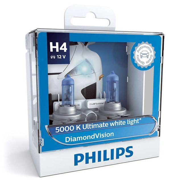 Philips H4 12342DVS2 Diamond Vision Headlight Bulb (12V, 60/55W, 2 Bulbs)