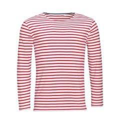 SOLS Herren Marine T-Shirt, gestreift, langärmlig