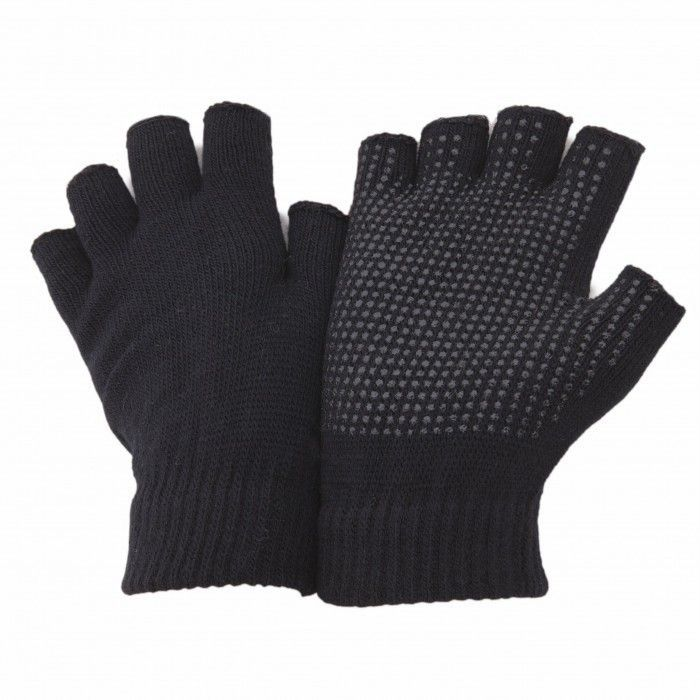 FLOSO Halbfinger Handschuhe Magic Gloves mit griffigen Handflächen