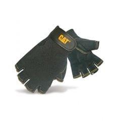 Caterpillar 12202 Herren Halbfinger Handschuhe / Handinnenfläche aus Schweineleder