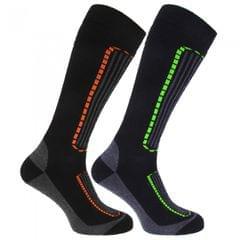 FLOSO Herren Ski-Socken, 2er-Pack