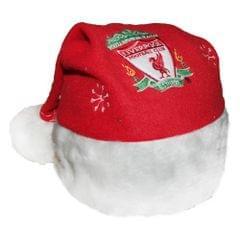 Weihnachtsmütze / Nikolausmütze mit Liverpool FC Design