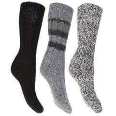 Floso Damen Thermo Winter-Socken, Wollgemisch, 3 Paar