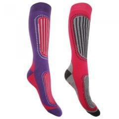FLOSO Damen Ski-Socken, 2er-Pack
